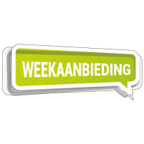 Full color sticker Weekaanbieding