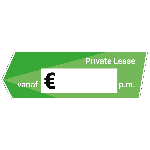 Private lease vanaf - label sticker autodealerstickers